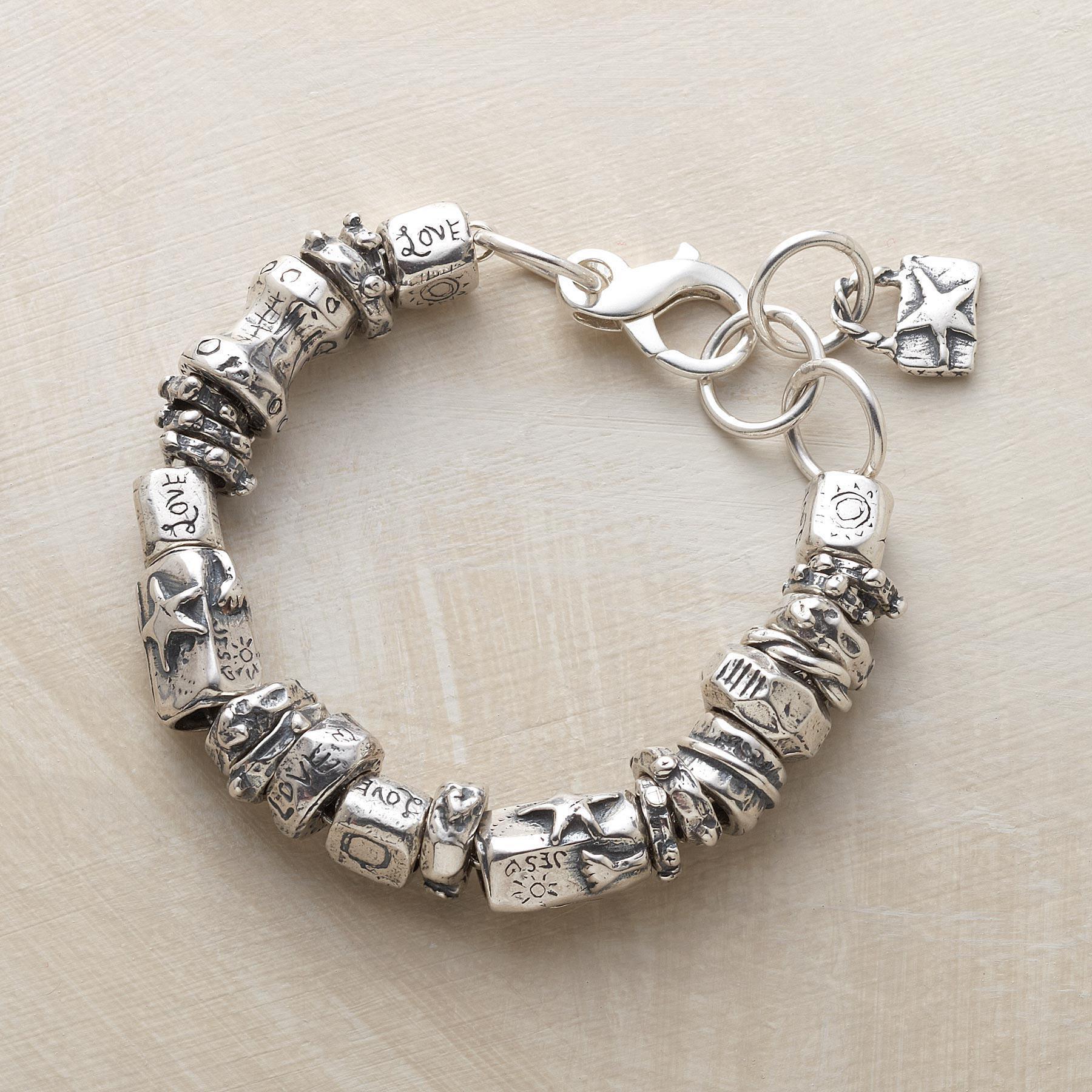 All Silver Charmed Life Bracelet