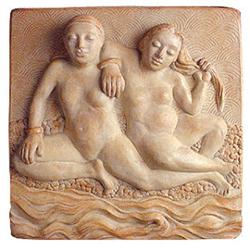 Ceramic and Cast Stone Garden Plaques