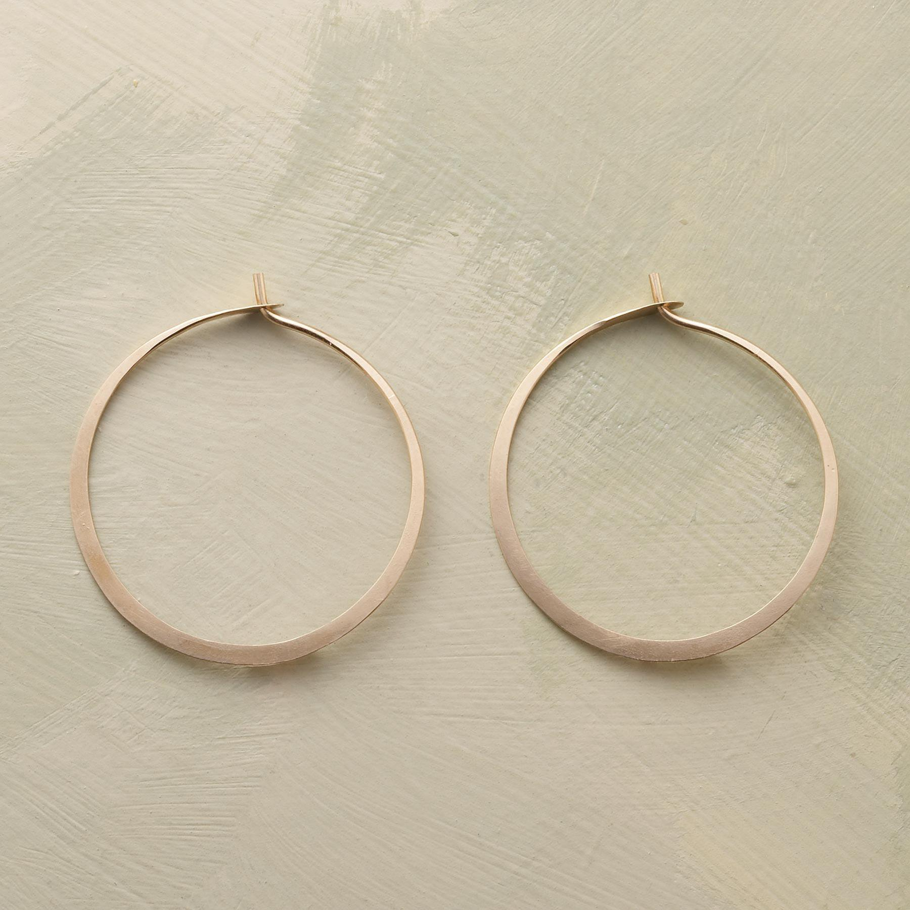 Hand Forged Gold Hoop Earrings