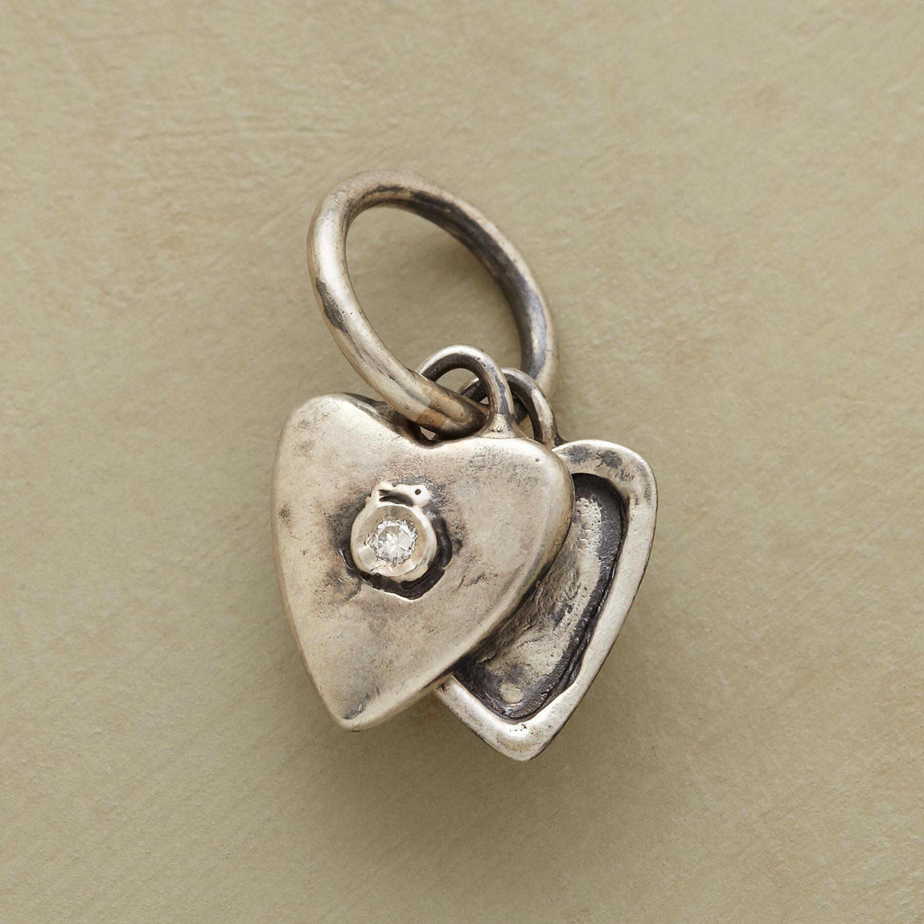 Silver Heart Locket Charm