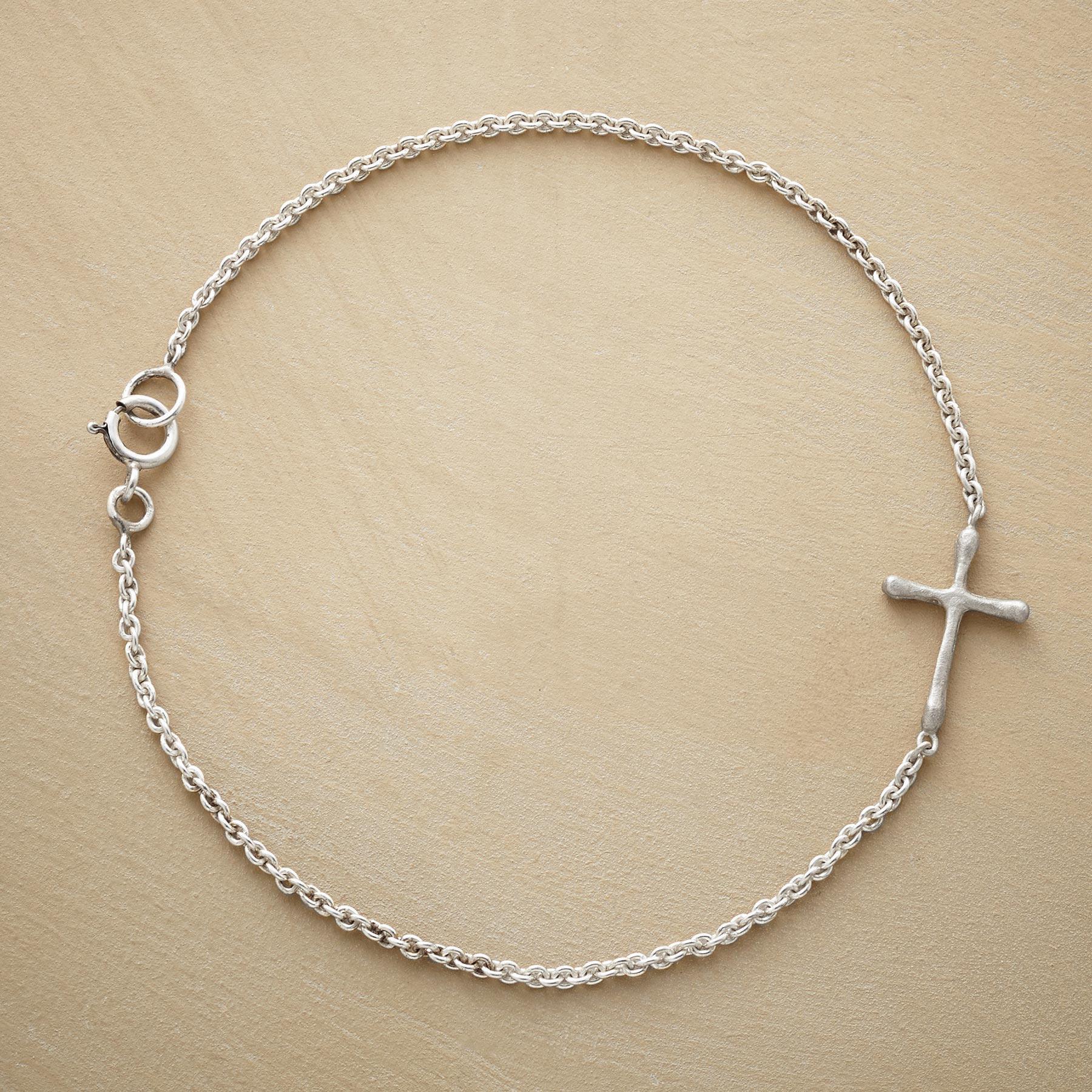 Sterling Silver Linked Cross Bracelet