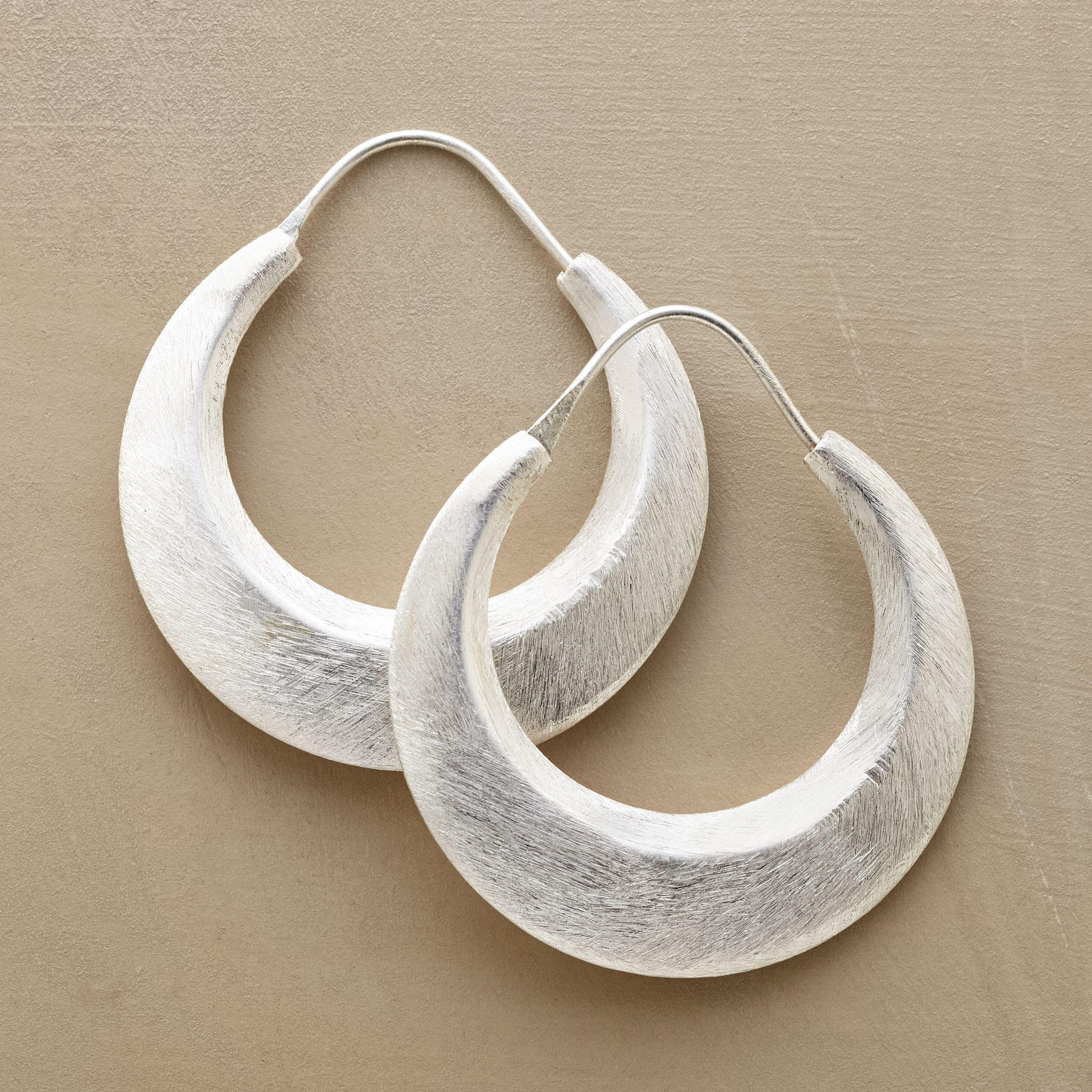 Nile Moon Hoop Earrings