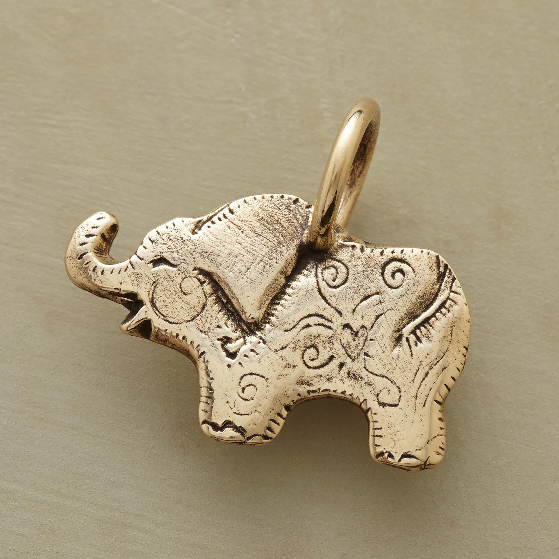 Gold Elephant Charm