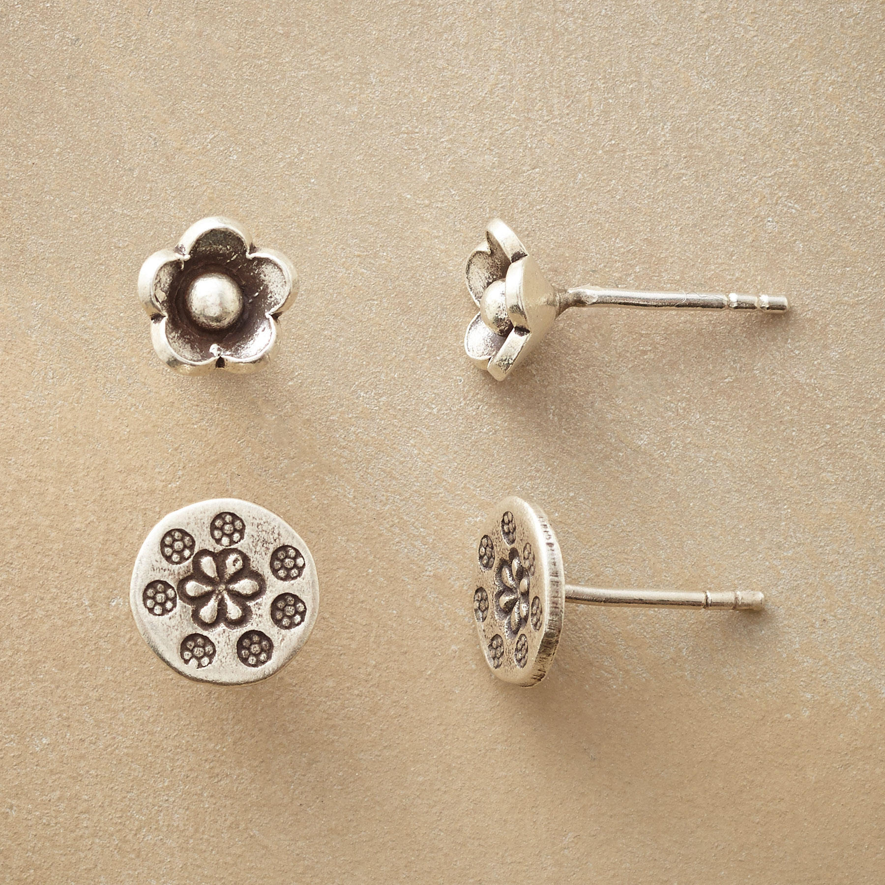 Floral Duet Earring Set