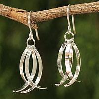Sterling silver dangle earrings, 'Sea Vision'