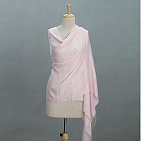 Silk shawl, 'Rose Blush'