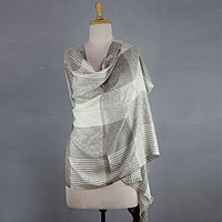 Wool shawl, 'Paisley Lands'