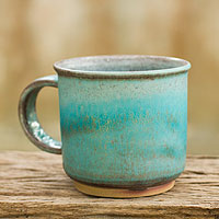 Ceramic mug, 'Earth and Sky'
