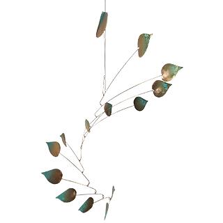 Copper Aspen Leaf Mobile