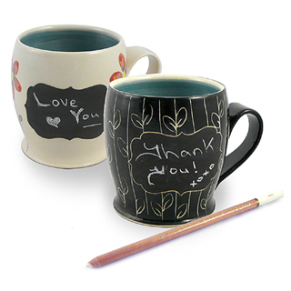 Hand-thrown Pottery Chalkboard Mug