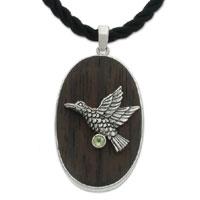 Peridot pendant necklace, 'Peace Messenger'