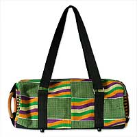 Cotton kente shoulder bag, 'Akan Glamour'