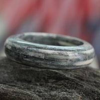 Bone bangle bracelet, 'Delhi Jungle'
