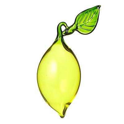 Handblown Glass Lemon Ornament