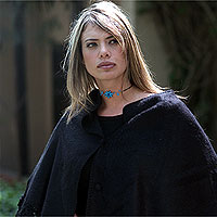 Alpaca blend poncho, 'Night Out'