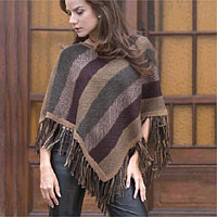 Alpaca poncho, 'Earth Surprise'