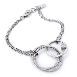 Hammered Eternity Circles Bracelet