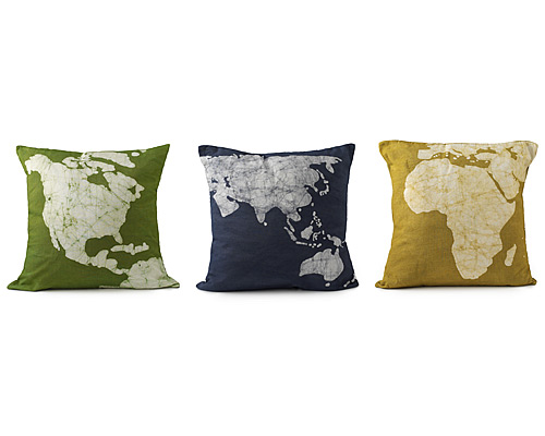 Continent Pillows - Set of 3