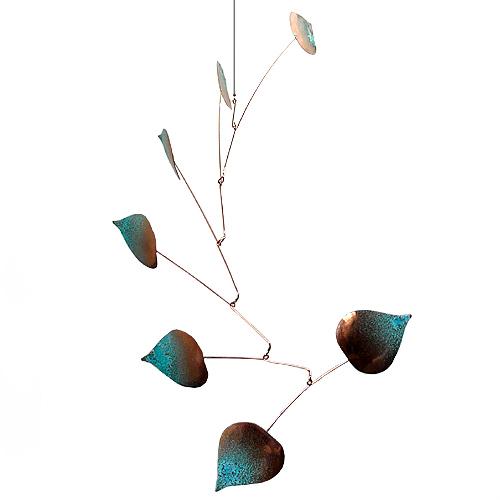 Copper Aspen Seven Leaf Mobile