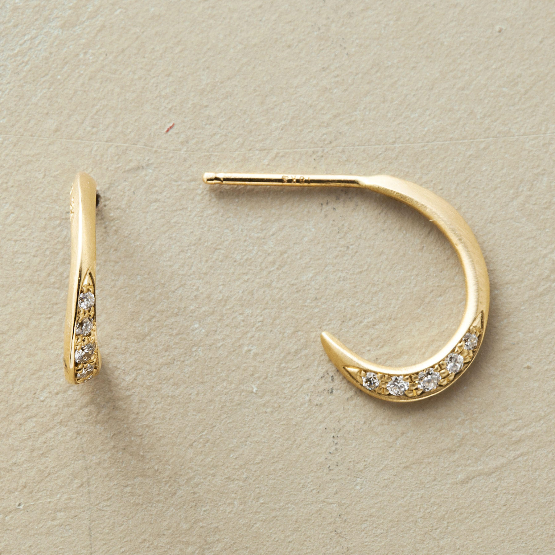 Diamond Quintet Hoop Earrings