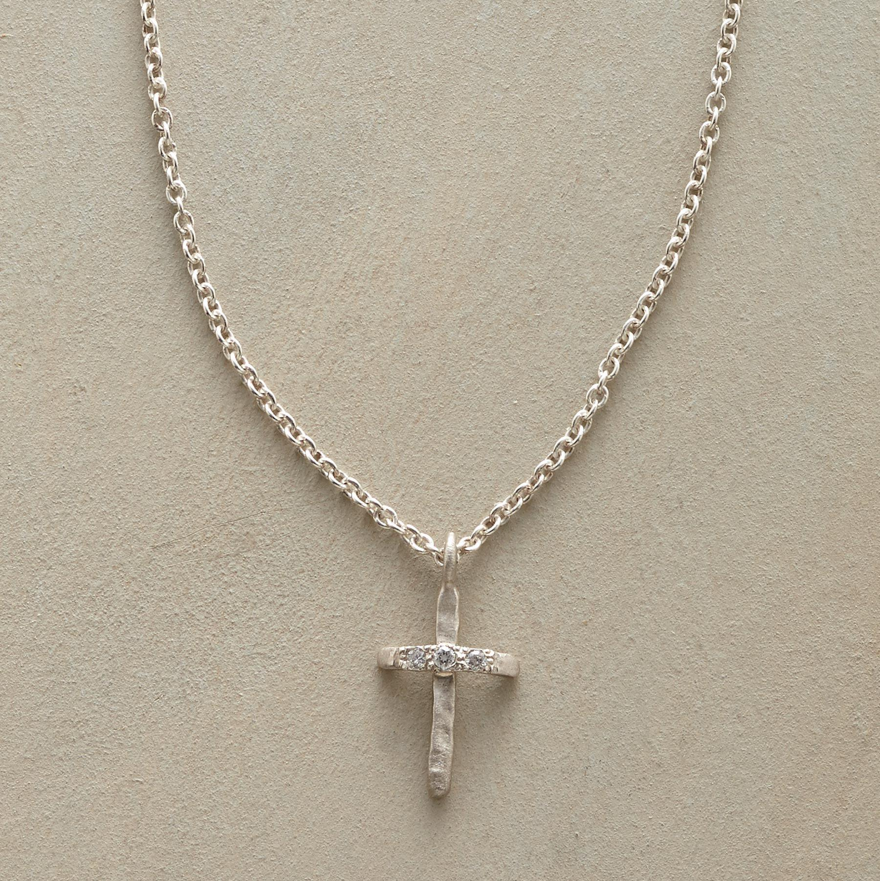 Rebecca Lankford Diamond-kissed Cross Necklace