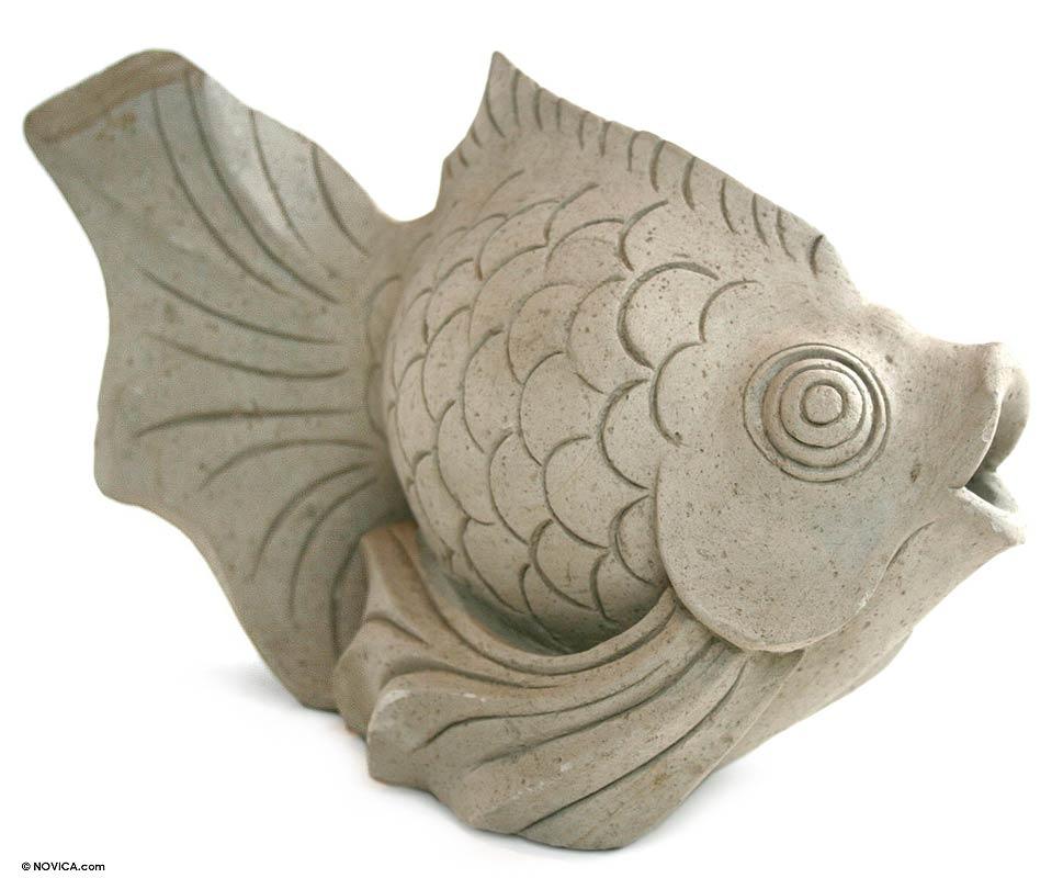 Sandstone Fish Sculpture