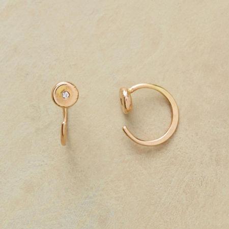 Diamond Hoop Earrings, Turnabout