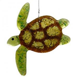 Sea Turtle Fused Art Glass Suncatcher