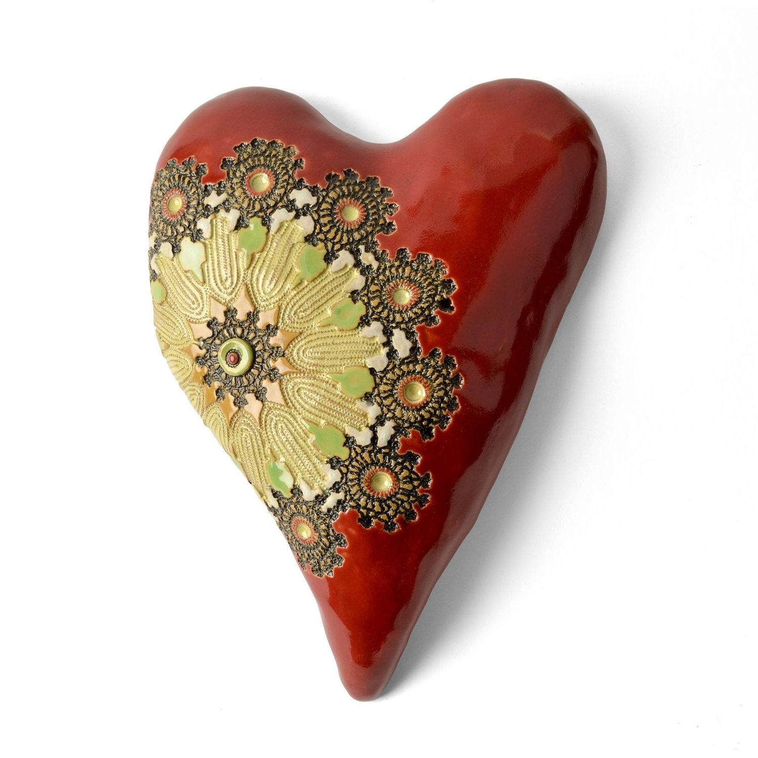 Red Ceramic Hearty by Laurie Pollpeter Eskenazi