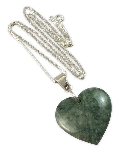 Heart Shaped Jade Necklace