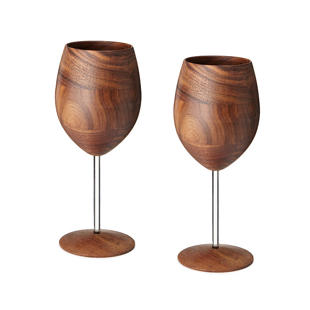 Wooden Wine Glasses by David Rasmussen
