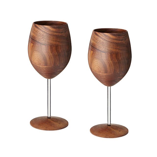 Wooden Wine Glasses by David Rasmussen