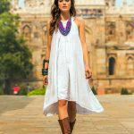 Smocked White Cotton Sundress