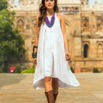 Smocked White Cotton Sundress