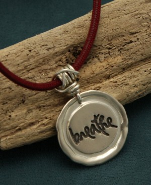 Sterling Silver Thich Nhat Hanh Breathe Necklace