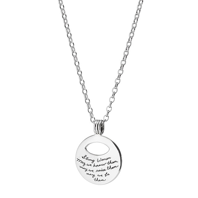 Inspirational Quotes for Women, Strong Women Pendant