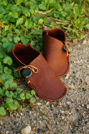 Leather Moccasins House Slippers