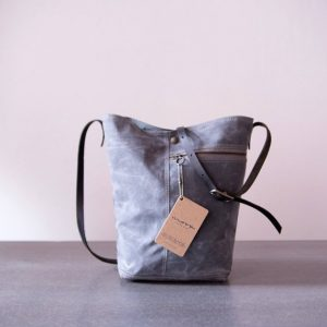 Gray Waxed Tote by Moop