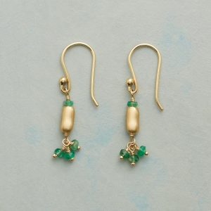 Emerald and Gold Earrings by Anne Sportun
