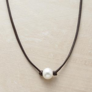 Handmade Pearl Necklace by Rebecca Lankford