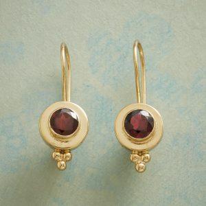 Garnet and Gold Vermeil Earrings