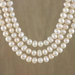 Handmade Pearl Strand Necklace