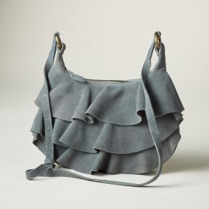 Soft Leather Purse with Ruffles