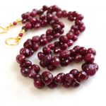One-of-a-Kind Ruby Bead Necklace