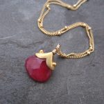 Hand Cut Ruby Necklace