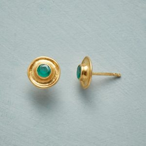 Emerald Monument Earrings