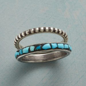 Stone & Silver Stacking Rings